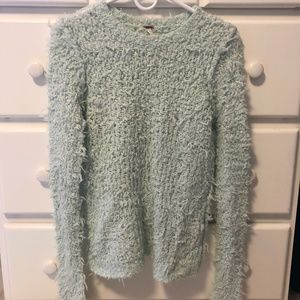 Free People Light Blue Sweater